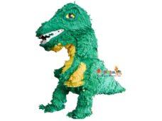 χειροποιητη πινιατα πρασινος δεινοσαυρος t-rex