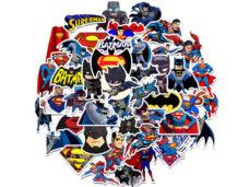 αυτοκολλητα παιδικα batman superman