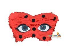 χειροποιητη πινιατα μασκα ladybug