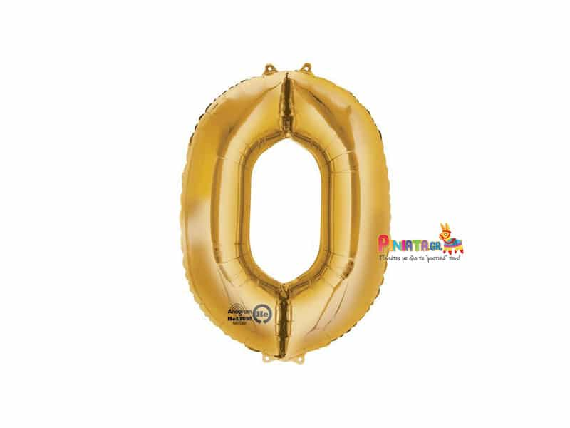 Μπαλόνι foil χρυσό μηδέν 0