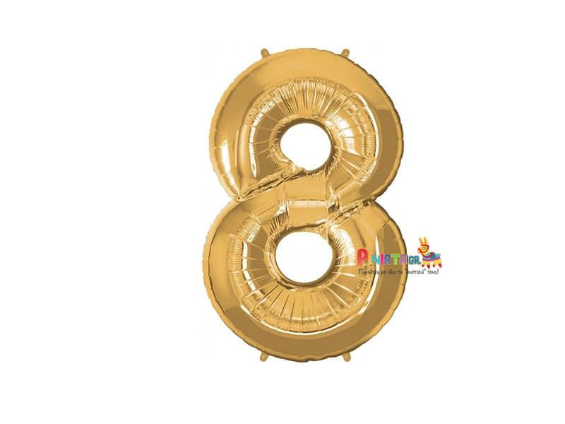 Μπαλονι foil χρυσο οχτω 8